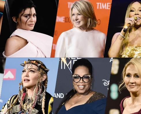 top 50 most popular women in the world in 2020