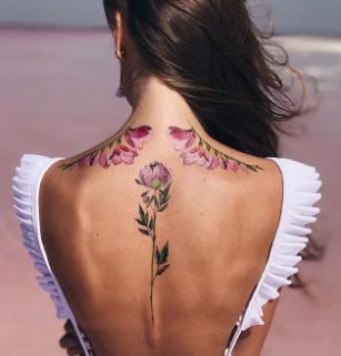 Spine Tattoo Art