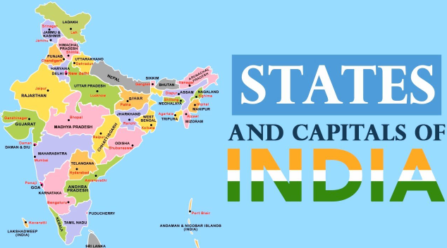 List of 29 States and Capitals of India in Alphabetical Order